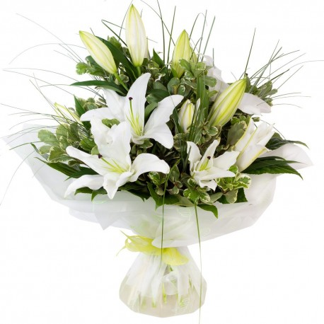 White Lily Hand-tied